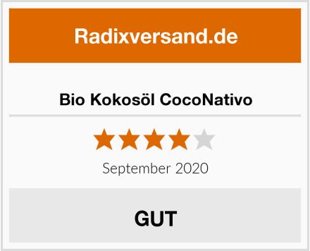 Bio Kokosöl CocoNativo Test