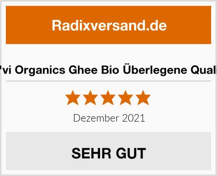 Na'vi Organics Ghee Bio Überlegene Qualität Test