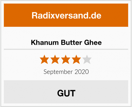 Khanum Butter Ghee Test
