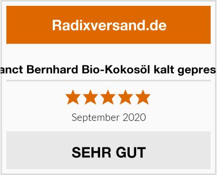 Sanct Bernhard Bio-Kokosöl kalt gepresst Test
