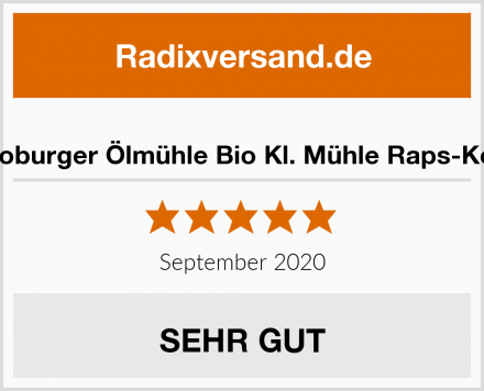 Teutoburger Ölmühle Bio Kl. Mühle Raps-Kernöl Test