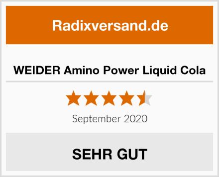 WEIDER Amino Power Liquid Cola Test
