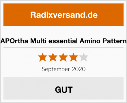 APOrtha Multi essential Amino Pattern Test
