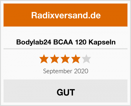 Bodylab24 BCAA 120 Kapseln Test