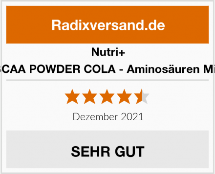 Nutri+ BCAA POWDER COLA - Aminosäuren Mix Test