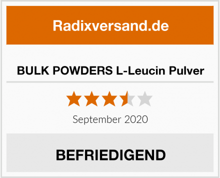 BULK POWDERS L-Leucin Pulver Test