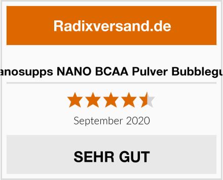 Nanosupps NANO BCAA Pulver Bubblegum Test