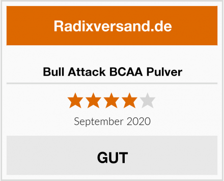 Bull Attack BCAA Pulver Test