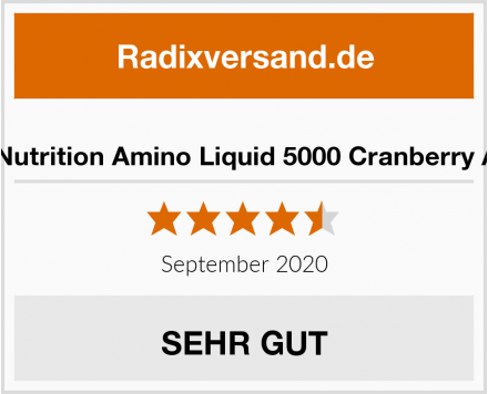 Best Body Nutrition Amino Liquid 5000 Cranberry Aminosäure Test