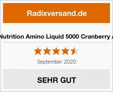 Best Body Nutrition Amino Liquid 5000 Cranberry Aminosäure Test