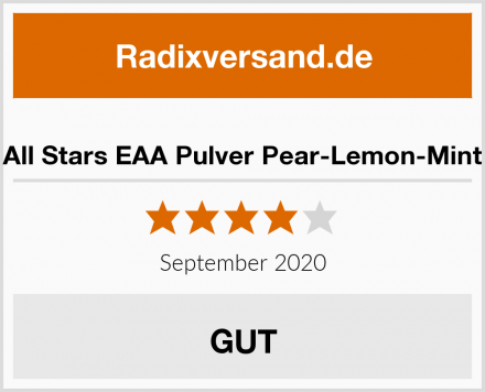All Stars EAA Pulver Pear-Lemon-Mint Test
