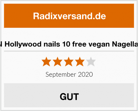 HN Hollywood nails 10 free vegan Nagellack Test