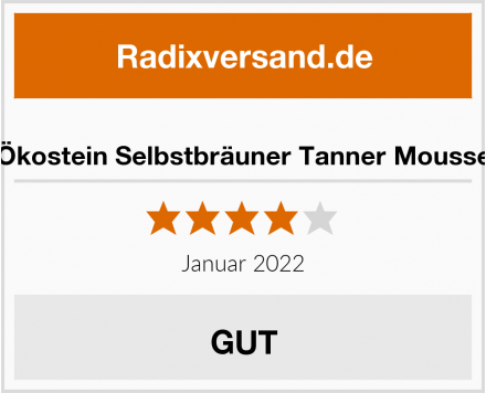 Ökostein Selbstbräuner Tanner Mousse Test
