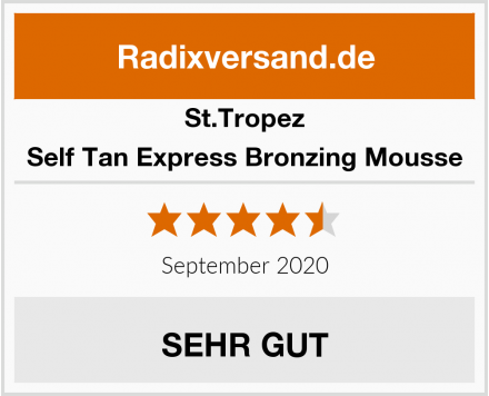 St.Tropez Self Tan Express Bronzing Mousse Test