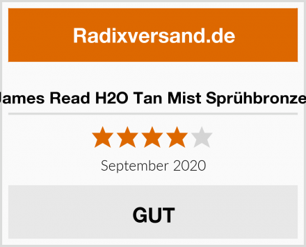 James Read H2O Tan Mist Sprühbronzer Test
