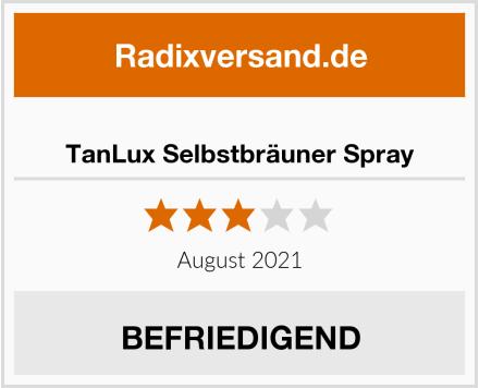 TanLux Selbstbräuner Spray Test