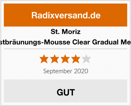 St. Moriz Selbstbräunungs-Mousse Clear Gradual Medium Test
