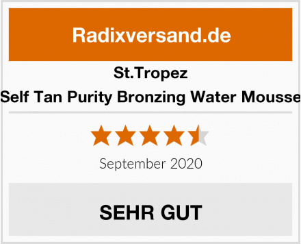 St.Tropez Self Tan Purity Bronzing Water Mousse Test
