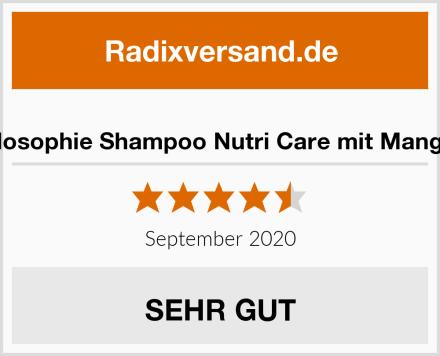 Jean & Len Philosophie Shampoo Nutri Care mit Mango und Avocado Test