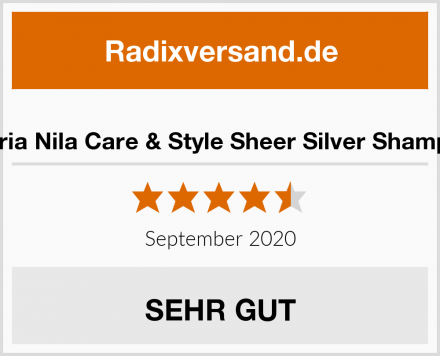 Maria Nila Care & Style Sheer Silver Shampoo Test