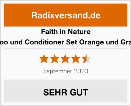 Faith in Nature Shampoo und Conditioner Set Orange und Grapefruit Test