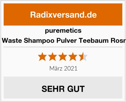 puremetics Zero Waste Shampoo Pulver Teebaum Rosmarin Test