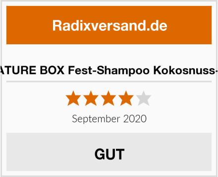 NATURE BOX Fest-Shampoo Kokosnuss-Öl Test