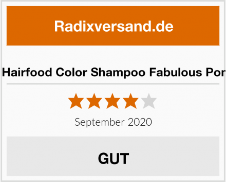 Udo Walz Hairfood Color Shampoo Fabulous Pomegranate Test