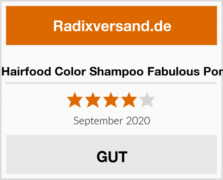 Udo Walz Hairfood Color Shampoo Fabulous Pomegranate Test