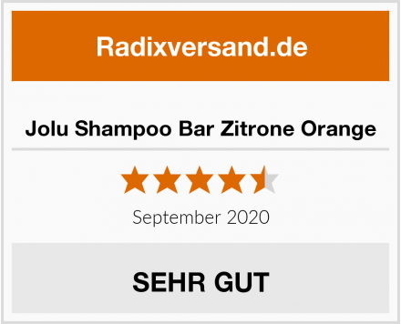 Jolu Shampoo Bar Zitrone Orange Test
