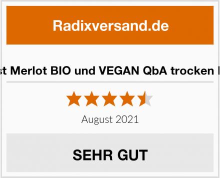 Landlust Merlot BIO und VEGAN QbA trocken Rotwein Test