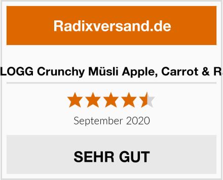 W.K KELLOGG Crunchy Müsli Apple, Carrot & Raspberry Test