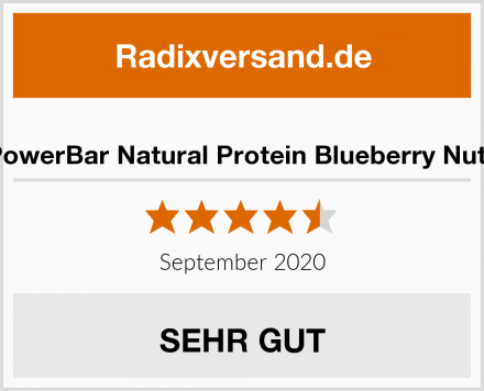 PowerBar Natural Protein Blueberry Nuts Test