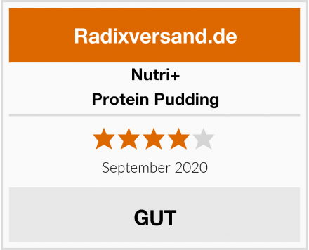 Nutri+ Protein Pudding Test