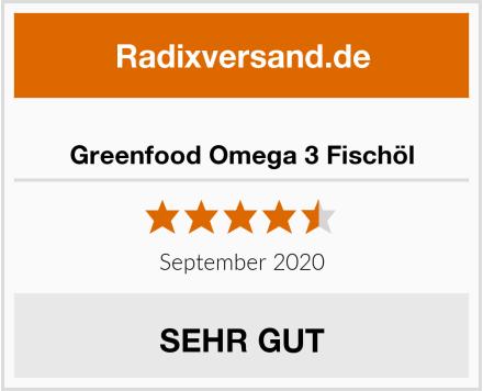 Greenfood Omega 3 Fischöl Test