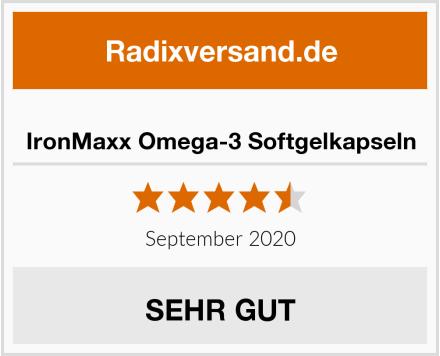 IronMaxx Omega-3 Softgelkapseln Test