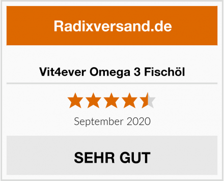 Vit4ever Omega 3 Fischöl Test