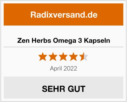 Zen Herbs Omega 3 Kapseln Test