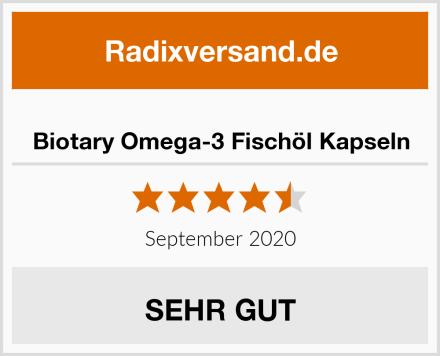 Biotary Omega-3 Fischöl Kapseln Test