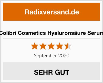 Colibri Cosmetics Hyaluronsäure Serum Test