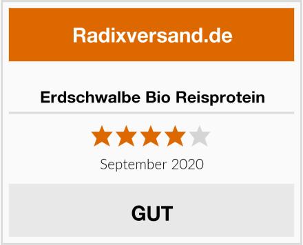Erdschwalbe Bio Reisprotein Test