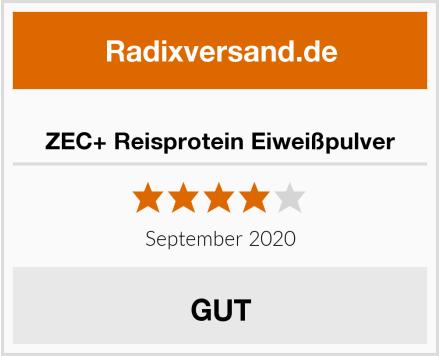 ZEC+ Reisprotein Eiweißpulver Test