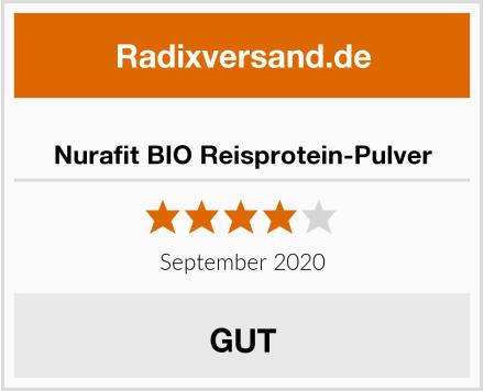 Nurafit BIO Reisprotein-Pulver Test
