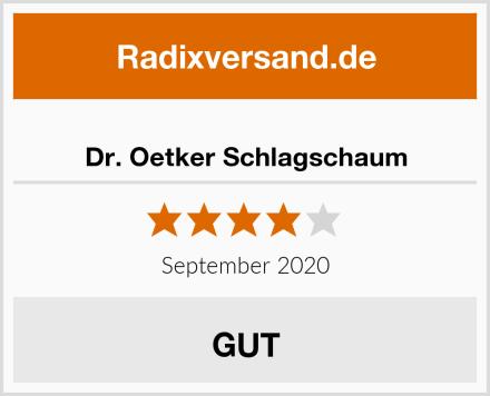 Dr. Oetker Schlagschaum Test
