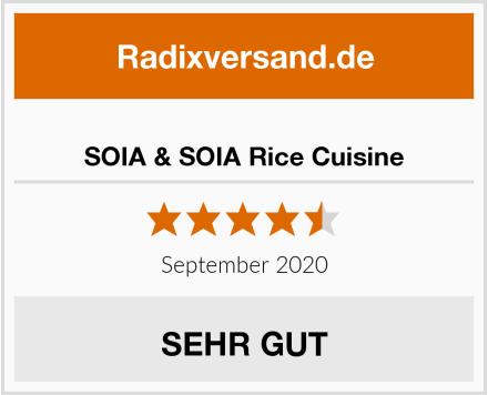 SOIA & SOIA Rice Cuisine Test