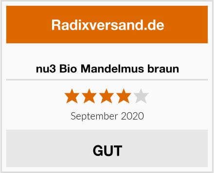 nu3 Bio Mandelmus braun Test