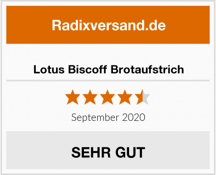 Lotus Biscoff Brotaufstrich Test