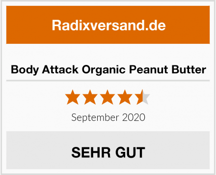 Body Attack Organic Peanut Butter Test