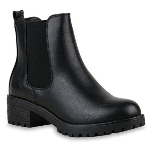 stiefelparadies Damen Stiefeletten Chelsea Boots
