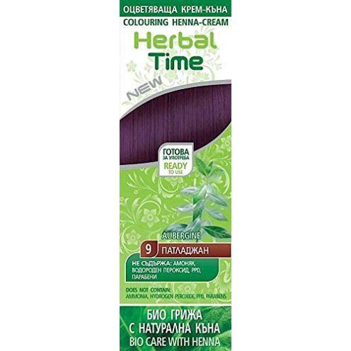 Herbal Time Haarfärbecreme mit Henna und Nesselextrakt